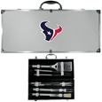 Houston Texans 8 pc Stainless Steel BBQ Set w/Metal Case
