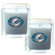 Miami Dolphins Scented Candle Set