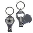 Dallas Cowboys Nail Care/Bottle Opener Key Chain