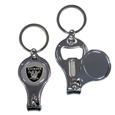 Oakland Raiders Nail Care/Bottle Opener Key Chain