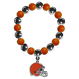 Cleveland Browns Chrome Bead Bracelet