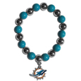 Miami Dolphins Chrome Bead Bracelet