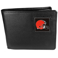 Cleveland Browns Leather Bi-fold Wallet Packaged in Gift Box