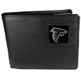 Atlanta Falcons Leather Bi-fold Wallet Packaged in Gift Box