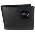 New England Patriots Leather Bi-fold Wallet Packaged in Gift Box