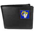 Los Angeles Rams Leather Bi-fold Wallet Packaged in Gift Box