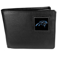 Carolina Panthers Leather Bi-fold Wallet Packaged in Gift Box