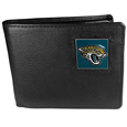 Jacksonville Jaguars Leather Bi-fold Wallet Packaged in Gift Box