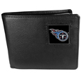 Tennessee Titans Leather Bi-fold Wallet Packaged in Gift Box