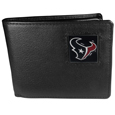 Houston Texans Leather Bi-fold Wallet Packaged in Gift Box
