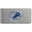 Detroit Lions Brushed Metal Money Clip