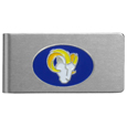 Los Angeles Rams Brushed Metal Money Clip