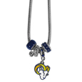 Los Angeles  Rams Euro Bead Necklace