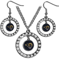 Los Angeles Rams Rhinestone Hoop Jewelry Set