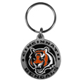 Cincinnati Bengals Carved Metal Key Chain
