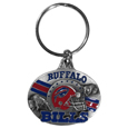 Buffalo Bills Oval Carved Metal Key Chain