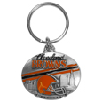 Cleveland Browns Oval Carved Metal Key Chain