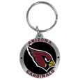 Arizona Cardinals Carved Metal Key Chain