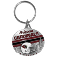 Arizona Cardinals Oval Carved Metal Key Chain