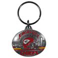 Kansas City Chiefs Oval Carved Metal Key Chain