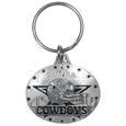 Dallas Cowboys Oval Carved Metal Key Chain