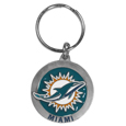 Miami Dolphins Carved Metal Key Chain
