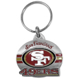 San Francisco 49ers Oval Carved Metal Key Chain