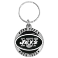 New York Jets Carved Metal Key Chain
