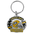 Green Bay Packers Oval Carved Metal Key Chain
