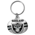 Oakland Raiders Oval Carved Metal Key Chain
