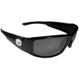 Pittsburgh Steelers Black Wrap Sunglasses
