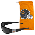 Chicago Bears Chrome Wrap Sunglasses and Bag