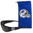 Buffalo Bills Chrome Wrap Sunglasses and Bag