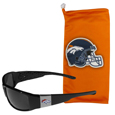 Denver Broncos Chrome Wrap Sunglasses and Bag
