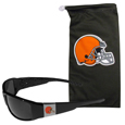 Cleveland Browns Chrome Wrap Sunglasses and Bag