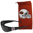 Arizona Cardinals Chrome Wrap Sunglasses and Bag