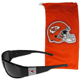 Kansas City Chiefs Chrome Wrap Sunglasses and Bag