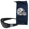 Indianapolis Colts Chrome Wrap Sunglasses and Bag