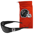 Atlanta Falcons Chrome Wrap Sunglasses and Bag