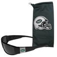 New York Jets Chrome Wrap Sunglasses and Bag