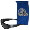 Detroit Lions Chrome Wrap Sunglasses and Bag