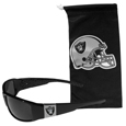 Oakland Raiders Chrome Wrap Sunglasses and Bag