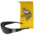 Minnesota Vikings Chrome Wrap Sunglasses and Bag
