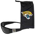 Jacksonville Jaguars Chrome Wrap Sunglasses and Bag