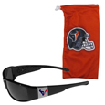 Houston Texans Chrome Wrap Sunglasses and Bag