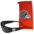 Tampa Bay Buccaneers Etched Chrome Wrap Sunglasses and Bag