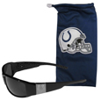 Indianapolis Colts Etched Chrome Wrap Sunglasses and Bag