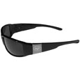 New York Jets Etched Chrome Wrap Sunglasses