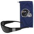 Baltimore Ravens Etched Chrome Wrap Sunglasses and Bag