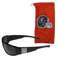Houston Texans Etched Chrome Wrap Sunglasses and Bag